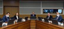 """Genel Müdürlük ve DSİ Bölge Müdürlüklerinin katıldığı""""2021 Yılı Genel Değerlendirme"""" konulu video konferans toplantısı yapıldı."""